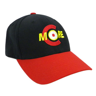 CMHBR-FF - Embroidered Shooters Hat, Black/Red, Flex Fit